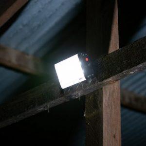 bright solar flood light